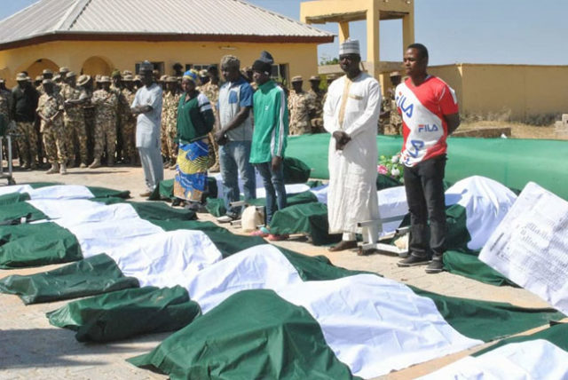 Boko Haram: Army buries soldiers killed in Metele attack