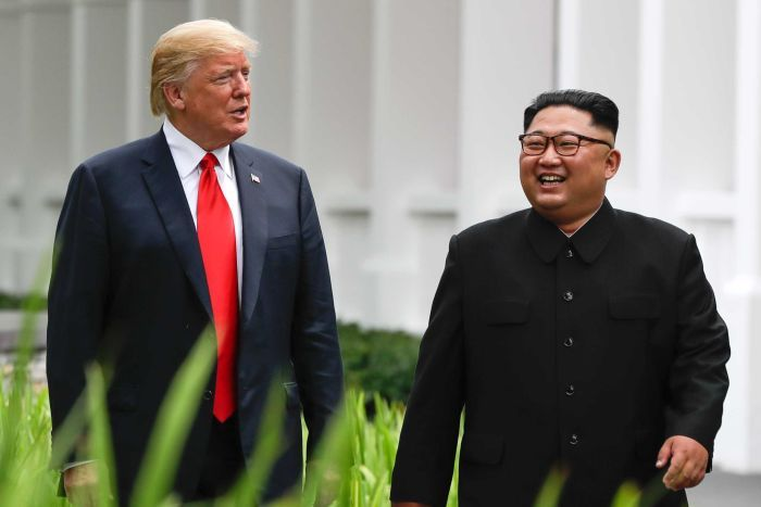 Trump 'trying to work out' historic Kim meeting at DMZ