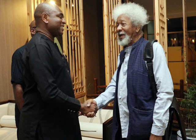 Election: Why I support Moghalu for president –Soyinka