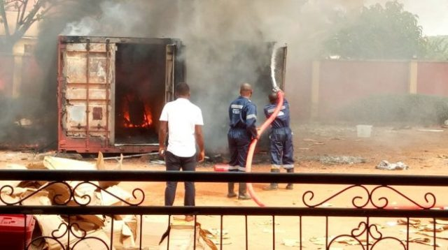 4,695 smart card readers burnt in fire outbreak –INEC