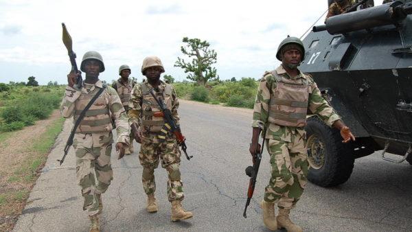 Military battle Boko Haram in Michika, Adamawa