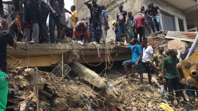 Ibadan building collapse: Rescue operation going on