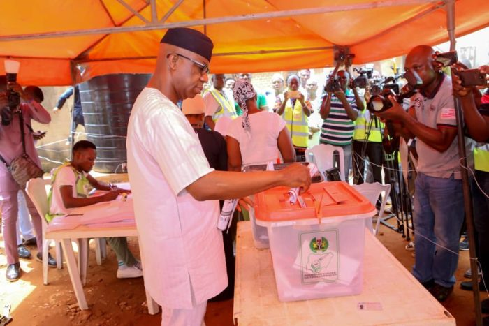 Ogun: APC's Dapo Abiodun holds firm at polling unit, wins by wide margin