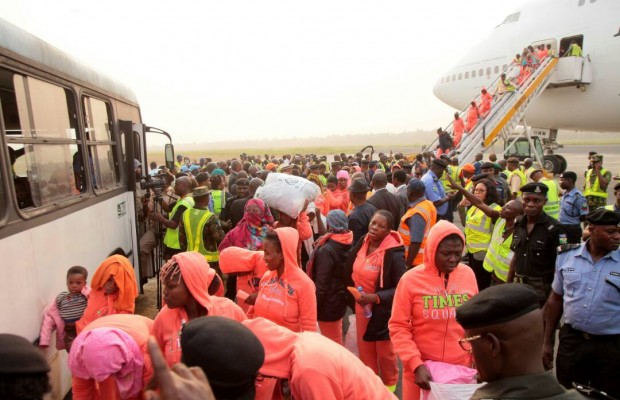 Another set of 158 batch stranded Nigerians return home from Libya