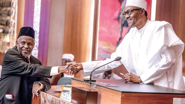 CJN: Buhari sends Tanko Mohammed's name to NASS for confirmation