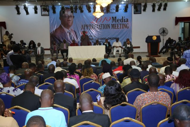 Okowa to journalists: Partner with us, ensure factual reportage