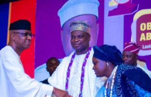PHOTO NEWS: Gov Dapo Abiodun at Olota's coronation anniversary