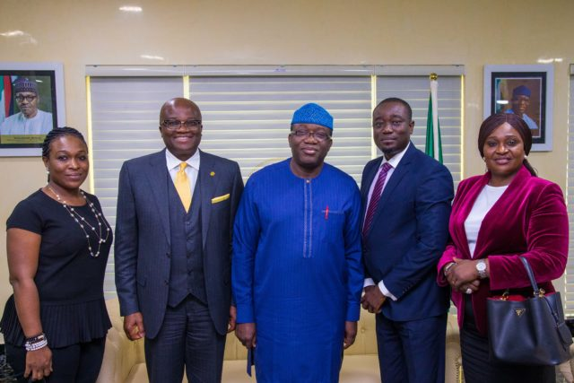 PHOTO: Providus Bank meets Ekiti State Governor, Fayemi