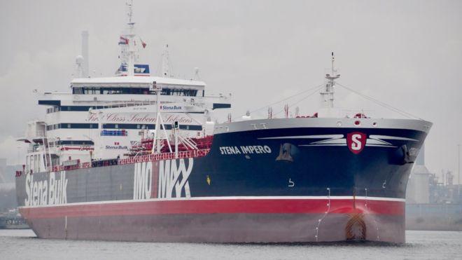 Britain calls ship seizure 'hostile act' as Iran releases video of capture