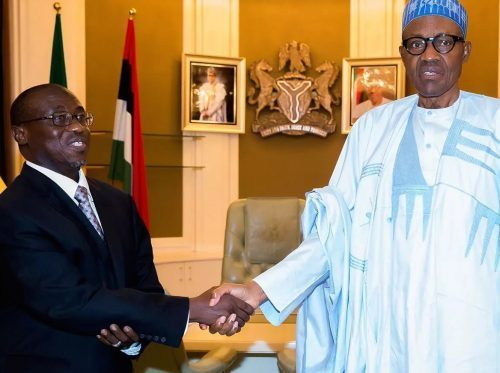 Baru visits Buhari, hands over new NNPC boss, Kyari