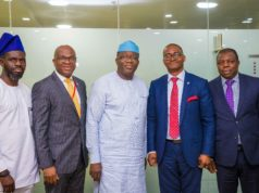 PHOTO NEWS: Wema Bank meets Ekiti governor, Fayemi