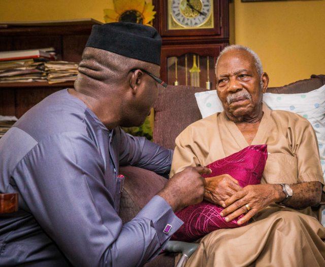 PHOTO NEWS: Fayemi pays condolence visit to Pa Reuben Fasoranti