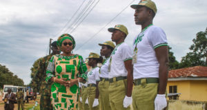 Exhibit high level of patriotism, Erelu Fayemi charges corps members