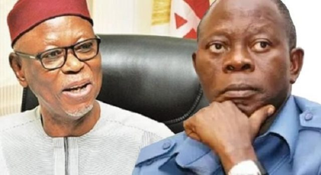 Former National Chairman of the All Progressives Congress, APC, Chief John Odigie-Oyegun, has urged his successor, Adams Oshiomhole, to desist from interfering in the affairs of Governor Godwin Obaseki of Edo State.Odigie-Oyegun gave