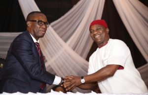 Okowa swears in commissioners, cautions leaders on utterances