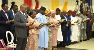 PHOTO NEWS: Sanwo-Olu swears in commissioners and special advisers