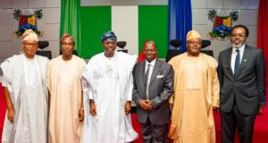 PHOTO NEWS: Sanwo-Olu swears in Alogba as Lagos chief judge