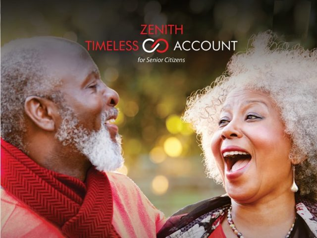 Zenith Bank introduces free banking for Senior Citizens aged 55 and above