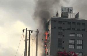 Fire guts Unity Bank's head office