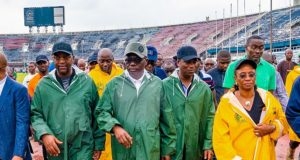 2020 Women World Cup: Sanwo-Olu, Dare inspect stadium