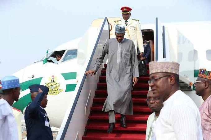 Buhari returns to Abuja after Aswan Forum in Egypt