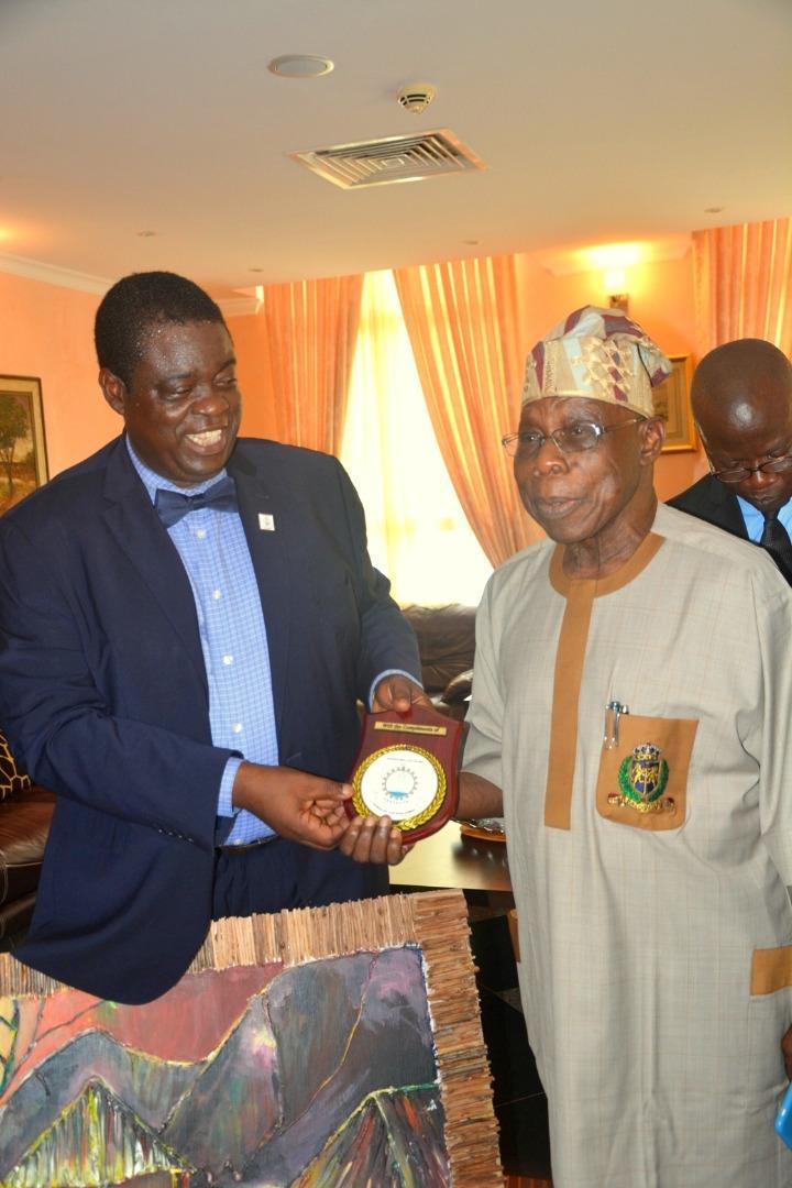PHOTO NEWS: MAPOLY management visits Obasanjo