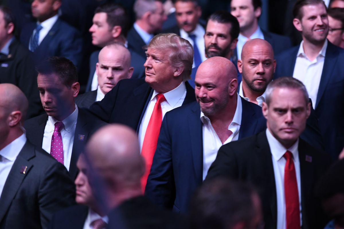UFC: Raucous reception for Trump at Mixed Martial Arts