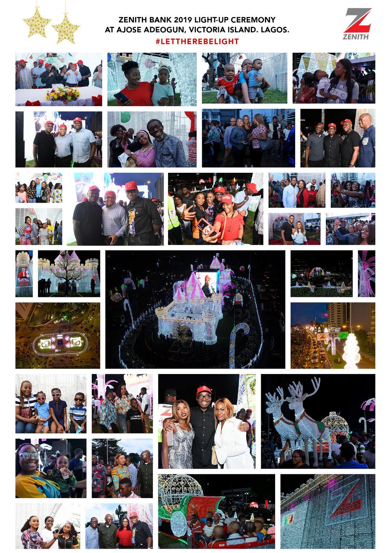 Zenith Bank's Christmas lights dazzle Lagosians