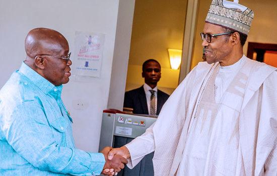 Buhari holds closed-door meeting with Ghanaian president at Aso Villa