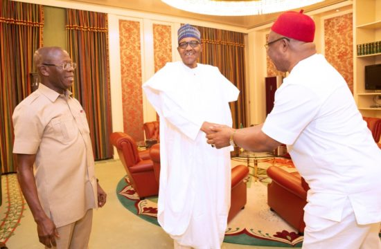 PHOTO NEWS: Uzodinma on first visit to Buhari after becoming Imo gov