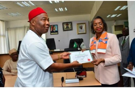 Imo guber: INEC issues Certificate of Return to Uzodinma as governor