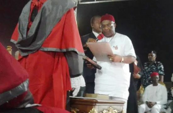 Imo: Hope Uzodinma sworn in as governor, says his victory 'rare'