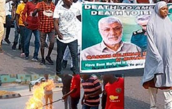 Shi'ite storms Abuja, protests US killing of Iran's general, Soleimani