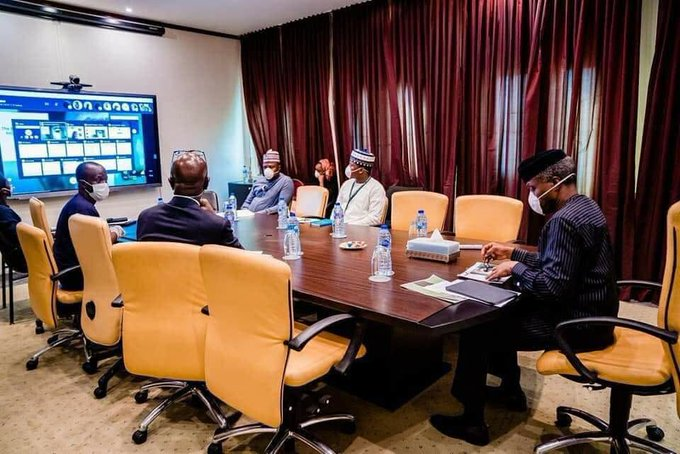 COVID-19: Osinbajo in self-isolation, holds meeting via video conferencing