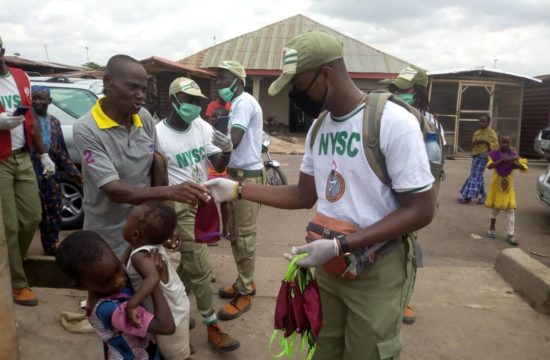 COVID-19: Corps members donate face masks at Akure North
