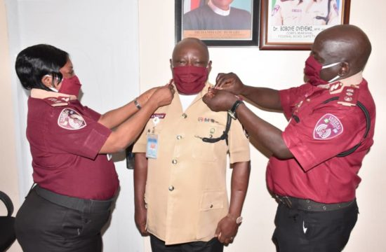 FRSC spokesman, Bisi Kazeem, decorated with Asst Corps Marshal rank