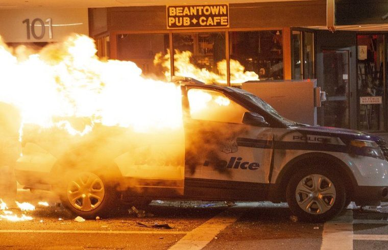 George Floyd death: Violence erupts on sixth day of protests