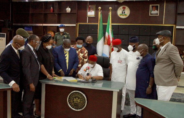 Imo: Uzodimma signs into law, N108.3b 2020 revised budget