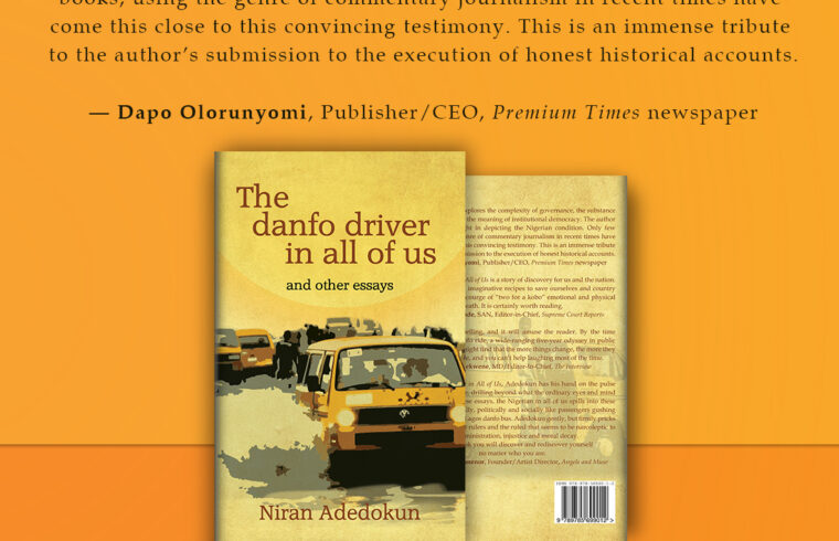 'The Danfo Driver In All of Us' by Niran Adedokun is out