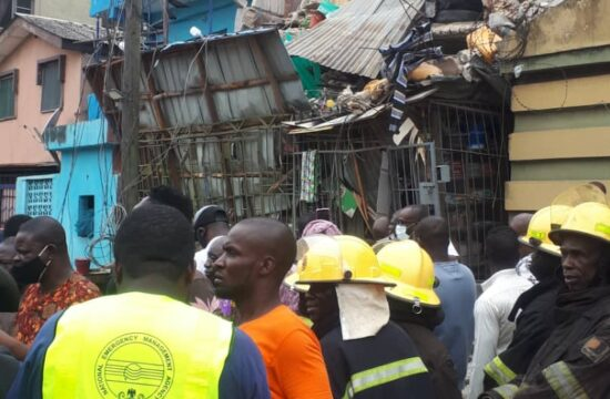 JUST IN: Three-storey building collapses in Lagos, one rescued alive