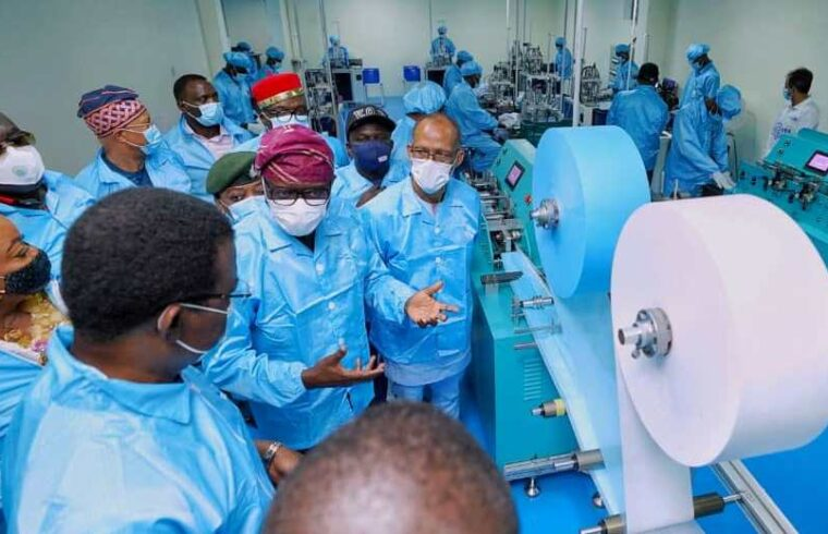 Sanwo-Olu commissions first indigenous medical face mask factory