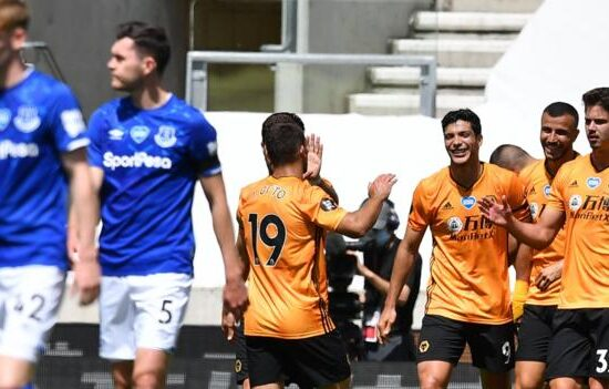 Wolves boost UEFA Champions League hopes with 3-0 win over Everton