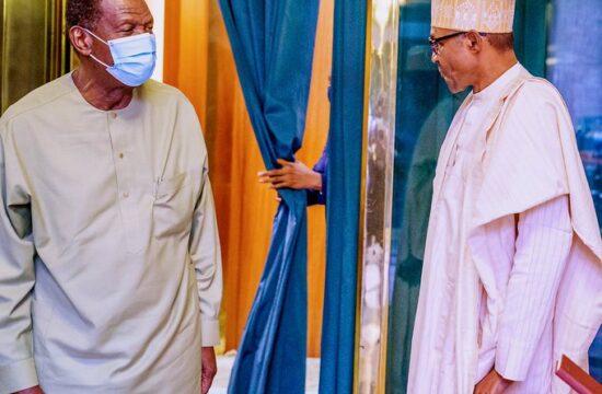 BREAKING: Adeboye visits Buhari at Presidential Villa