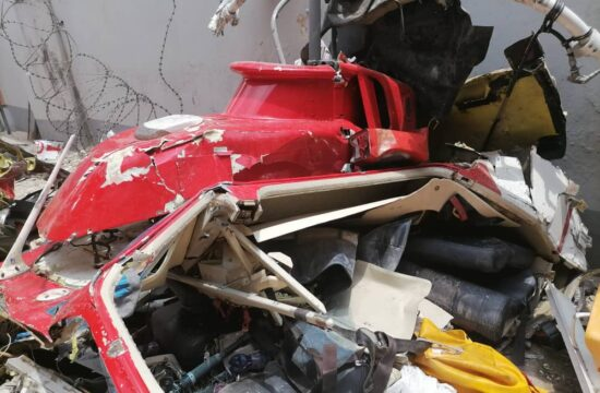 BREAKING: Two people killed as helicopter crashes in Opebi, Lagos