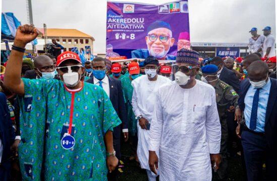 Ondo guber: Sanwo-Olu canvasses votes for Akeredolu's re-election