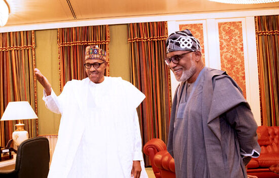 Ondo guber: Thank you for keeping faith with Akeredolu –Buhari