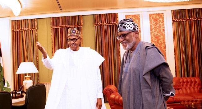 Ondo guber: Thank you for keeping faith with Akeredolu –Buhari