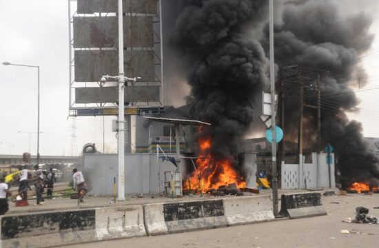 EndSARS: One killed as hoodlums set police station ablaze in Lagos