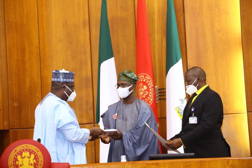 Senate president swears in Abiru, Dickson, two other Senators-elect